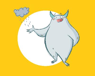 Kit, das Klima-Monster ist lustig, haarig und kann Regen zaubern.